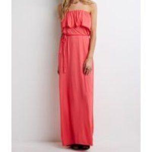 3/$15 Forever 21 Strapless Ruffle Maxi Dress Sz M